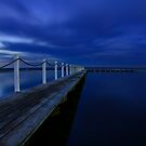 North Narrabeen Pool by Moonlight by Sharon Kavanagh