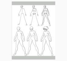 A manga male body evolution (black) by Tate Renforth-Frederick