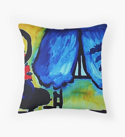 The sitting room,watercolor Throw Pillow