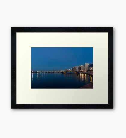 Reflecting on Malta - Sliema Blue Morning  Framed Print