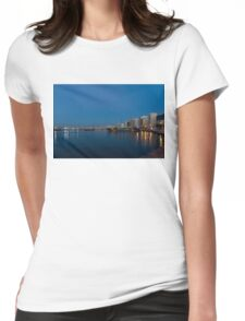 Reflecting on Malta - Sliema Blue Morning  Womens Fitted T-Shirt