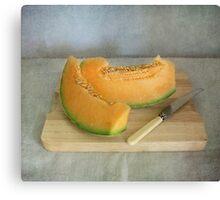 Yummy rockmelon Canvas Print