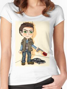 Supernatural : Dean Winchester Chibi Women's Fitted Scoop T-Shirt