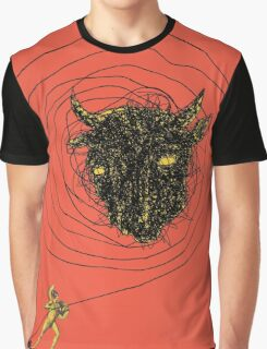 Theseus, the Minotaur, and the Thread Maze Graphic T-Shirt