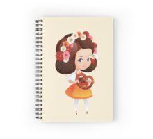 Cute German Girl in dirndl with pretzel  Spiral Notebook