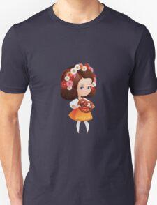 Cute German Girl in dirndl with pretzel  Unisex T-Shirt