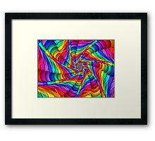 Web of Color Framed Print