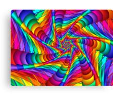 Web of Color Canvas Print