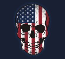 Vintage USA Flag Skull Design One Piece - Long Sleeve