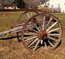 Ancient Wagon Wheels With A Story To Tell  by Jane Neill-Hancock