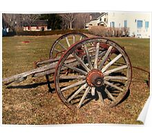 Ancient Wagon Wheels With A Story To Tell  Poster