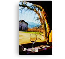 View From the Wine Train Canvas Print