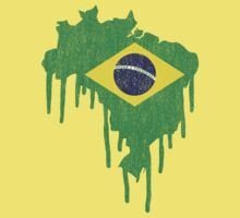 Brazil Paint Drip Kids Clothes
