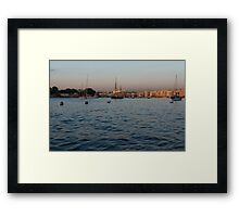 Sunrise Glow at Malta's Marsamxett Harbour Framed Print