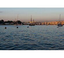 Sunrise Glow at Malta's Marsamxett Harbour Photographic Print