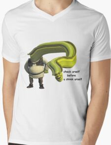 Shrek Yourself Before You Wreck Yourself Shirt Mens V-Neck T-Shirt