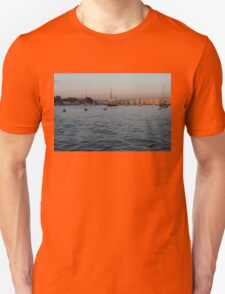 Sunrise Glow at Malta's Marsamxett Harbour Unisex T-Shirt