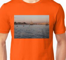 Sunrise Glow at Malta's Marsamxett Harbour Unisex T-Shirt