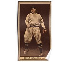 Benjamin K Edwards Collection Lawrence Doyle New York Giants baseball card portrait 001 Poster