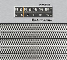 Transistor Radio - 70's Dual Band Silver by ubiquitoid