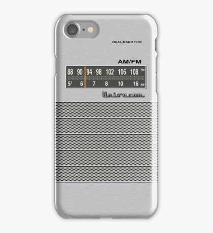 Transistor Radio - 70's Dual Band Silver iPhone Case/Skin