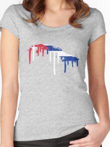 Cuba Paint Drip Women's Fitted Scoop T-Shirt