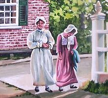 Young Ladies, Upper Canada Village by Dan Wilcox