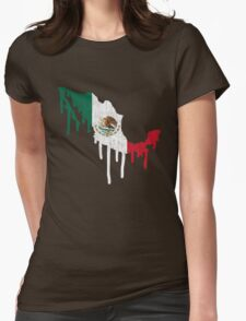 Mexico Paint Drip Womens Fitted T-Shirt