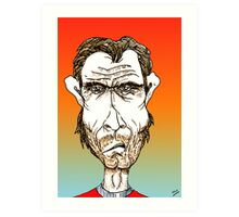 Clint Eastwood Cartoon Caricature Art Print