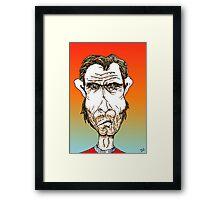 Clint Eastwood Cartoon Caricature Framed Print