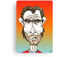 Clint Eastwood Cartoon Caricature Canvas Print