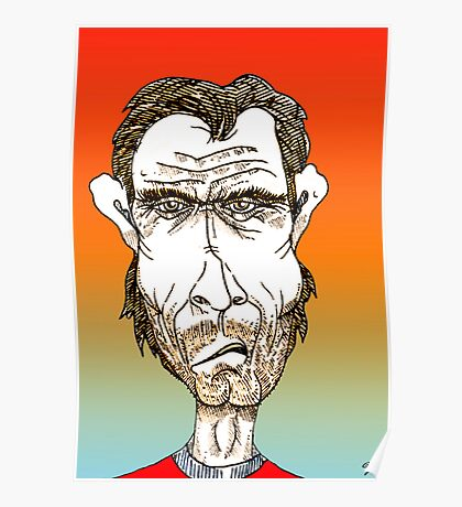 Clint Eastwood Cartoon Caricature Poster
