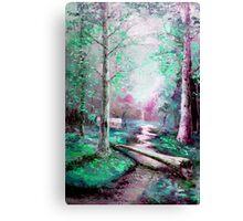 Memory of Woodland Creek Canvas Print
