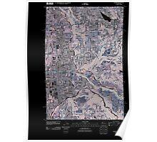 USGS Topo Map Washington State WA Auburn 20110422 TM Inverted Poster