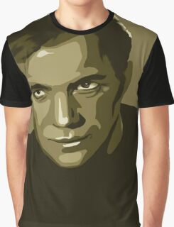 Captain Kirk stylized in gold (Star Trek) Graphic T-Shirt