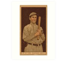 Benjamin K Edwards Collection Matthew McIntyre Chicago White Sox baseball card portrait 001 Art Print