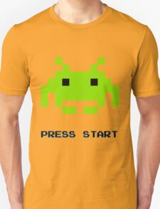 SPACE INVADERS RETRO PRESS START ARCADE TSHIRT Unisex T-Shirt