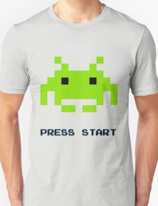 SPACE INVADERS RETRO PRESS START ARCADE TSHIRT T-Shirt