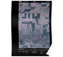 USGS Topo Map Washington State WA Omans 20110401 TM Inverted Poster