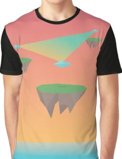 Crystal Islands in The Sky Graphic T-Shirt