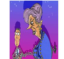 Margaret Thatcher and John Major Cartoon: i phone case by Grant Wilson