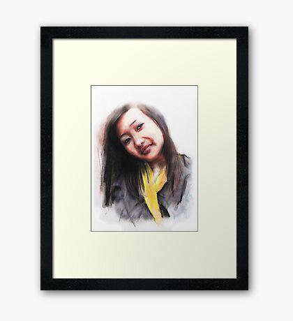 Navina. Bhutanese Woman Framed Print