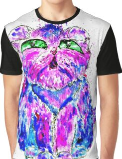 Painted Cat Graphic T-Shirt