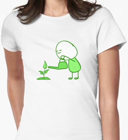Water My Plant Womens Fitted T-Shirt