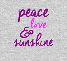 Peace Love & Sunshine Womens Fitted T-Shirt
