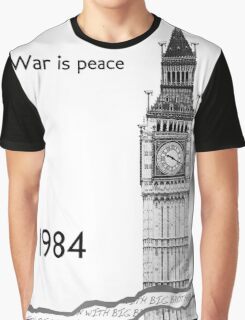 """George Orwell - 1984 - """"War is Peace"""" Graphic T-Shirt"""