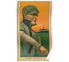 Benjamin K Edwards Collection Del Howard Chicago Cubs baseball card portrait Poster