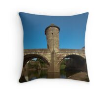 Monnow Bridge Monmouth Wales Throw Pillow