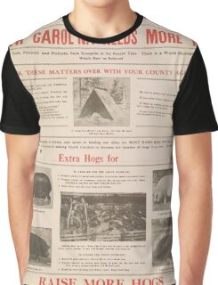 United States Department of Agriculture Poster 0070 North Carolina Needs More Pork Graphic T-Shirt