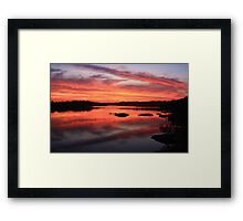 fire at the creek ... Framed Print
